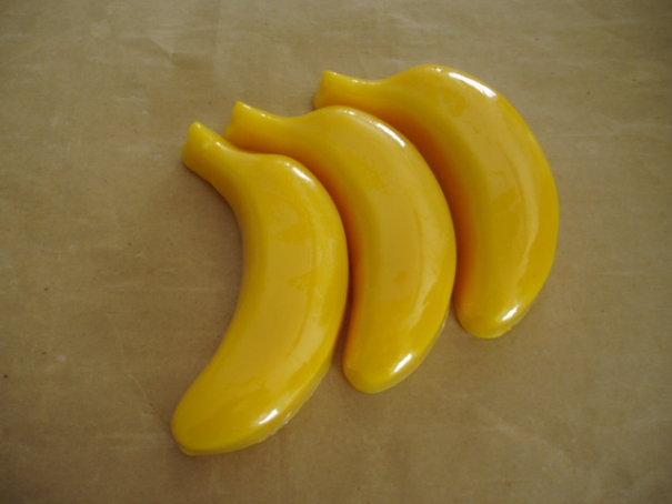 Sabonetes em forma de banana