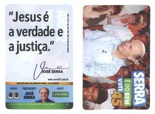 José Serra - hipocrisia e manipulação religiosa