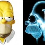 Tomografia revela o que Homer Serra Simpson tem na cabeça