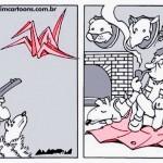 Caçador de Origamis: crítica do cartunista Amorim