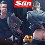 Robbie Williams baixa as calças e mostra a bunda toda na TV