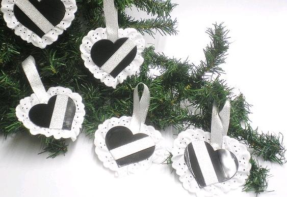 Enfeites de Natal - discos de vinil reciclados