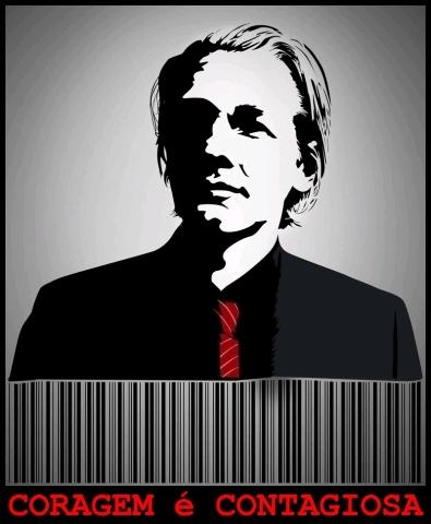 Julian Assange, do WikiLeaks - coragem é contagiosa