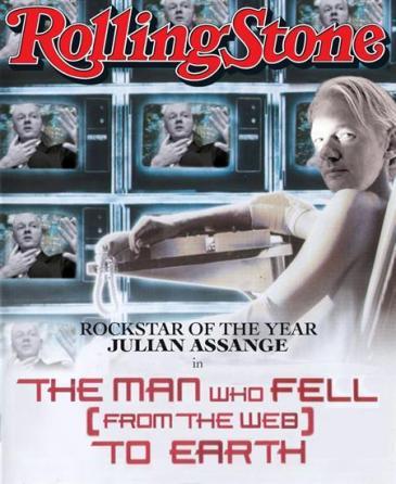 Julian Assange - capa da revista Rolling Stone