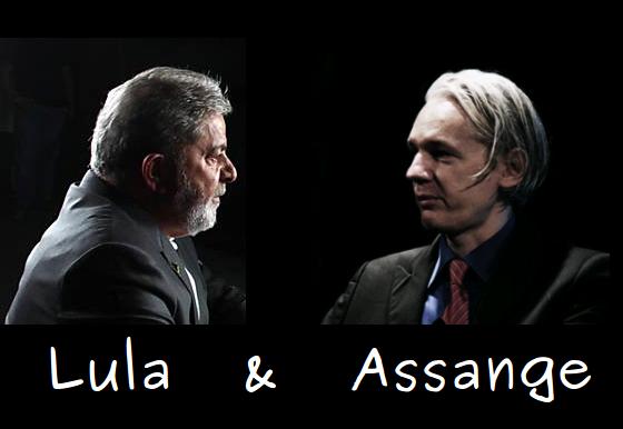 Lula e Julian Assange do WikiLeaks