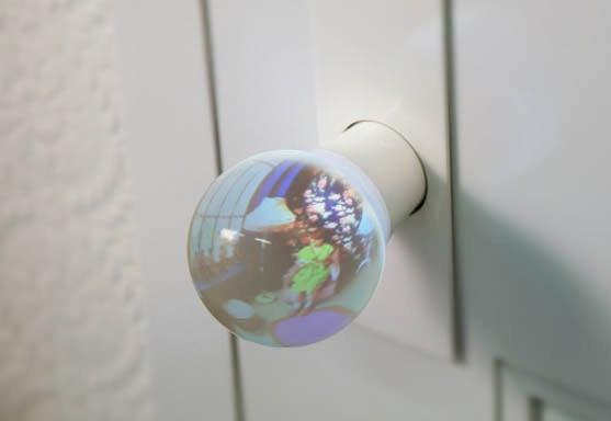Maçaneta de vidro para portas