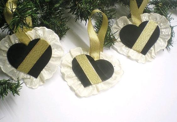Reciclagem discos de vinil - enfeites árvore de Natal