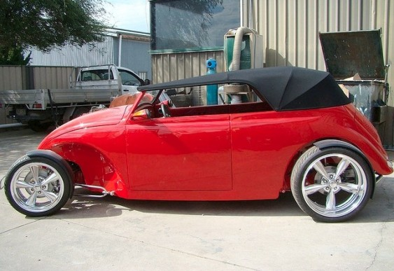 VW Volks Fusca Tuning Vermelho