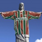 Wallpaper do Cristo Redentor com camisa do Fluminense