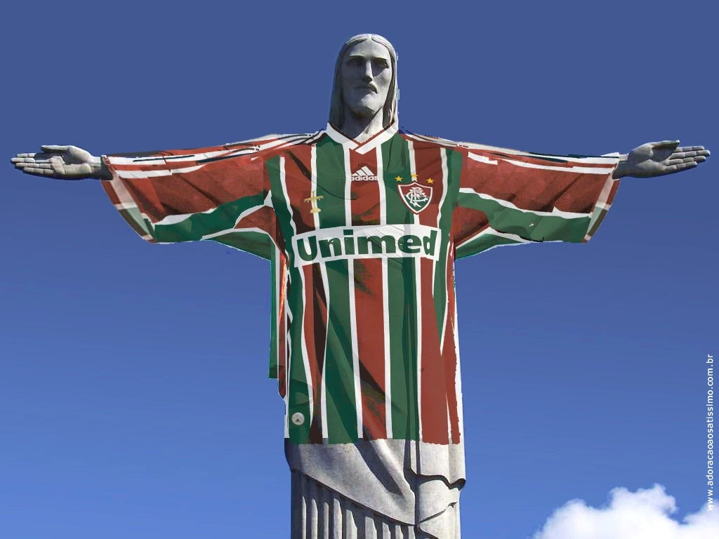 Wallpaper - Cristo Redentor com camisa do Fluminense