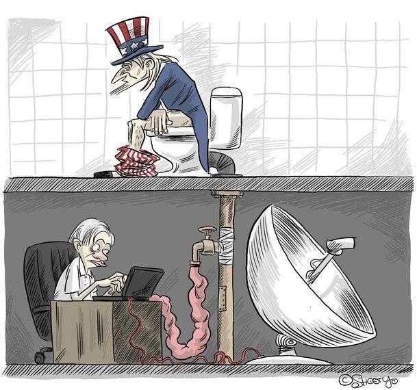 WikiLeaks - Julian Assange is watching you - humor