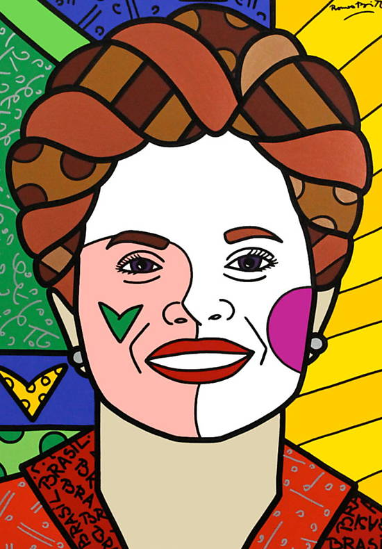 Retrato da presidenta Dilma no New York Times