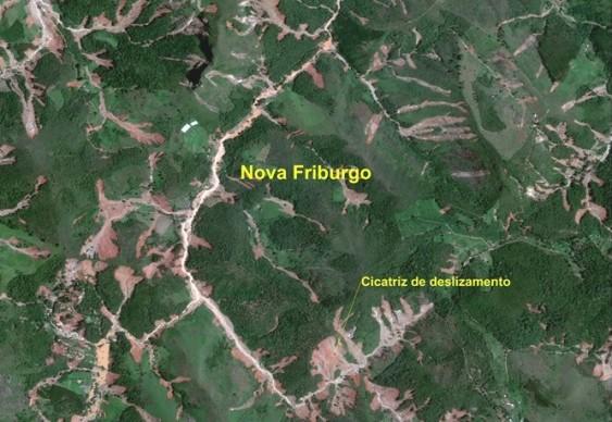 Imagem da tragédia - desmoronamentos na região serrana do Rio