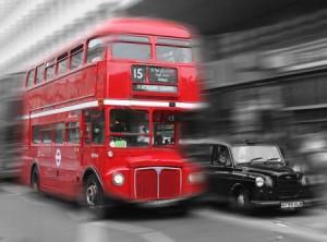 Ônibus típico de Londres