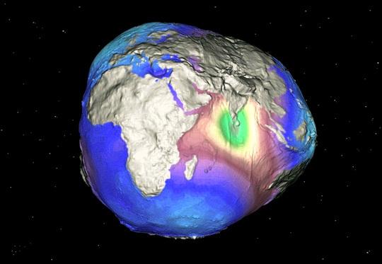 Formato real do globo terrestre