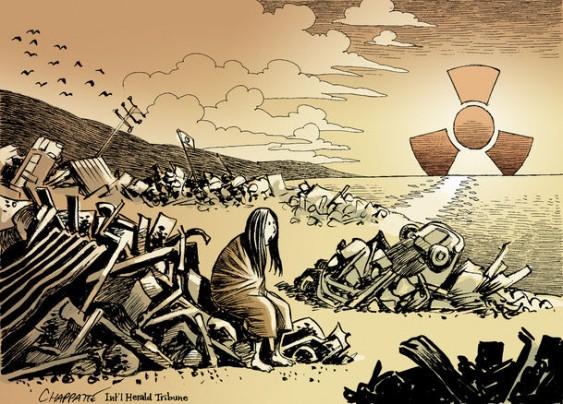 Charge - Acidente nuclear no Japão após terremoto e tsunami