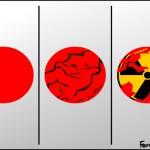 Bandeira do Sol é tema de charges sobre o terremoto no Japão