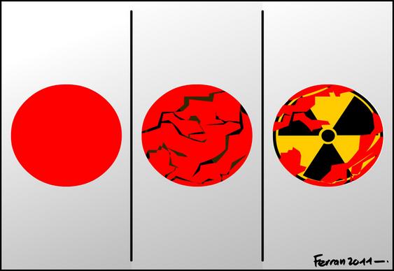 Charge - terremoto e radiação no Japão