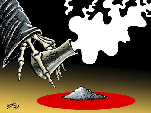 Contaminação nuclear Japão - cartum