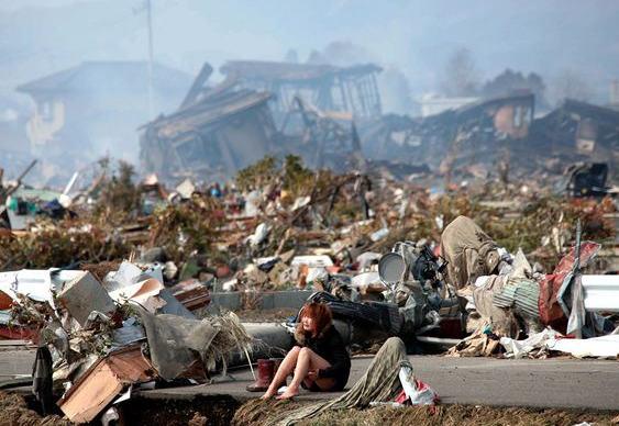 Vítima do terremoto no Japão