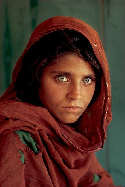 Fotografia símbolo de mulher afegã