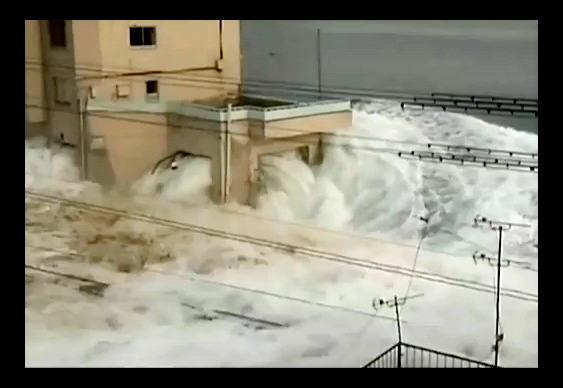 Tsunami invade cidade japonesa de Miyako