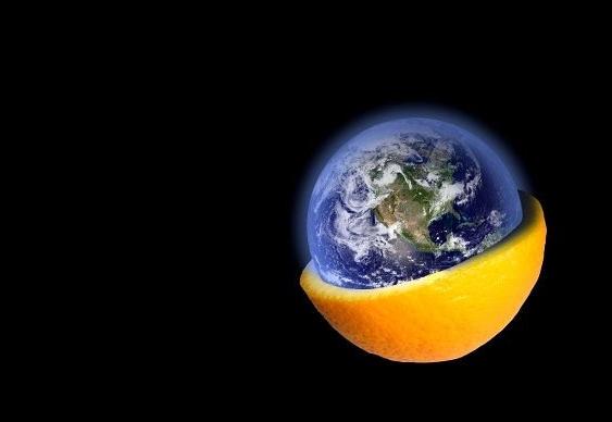 A Terra é uma laranja
