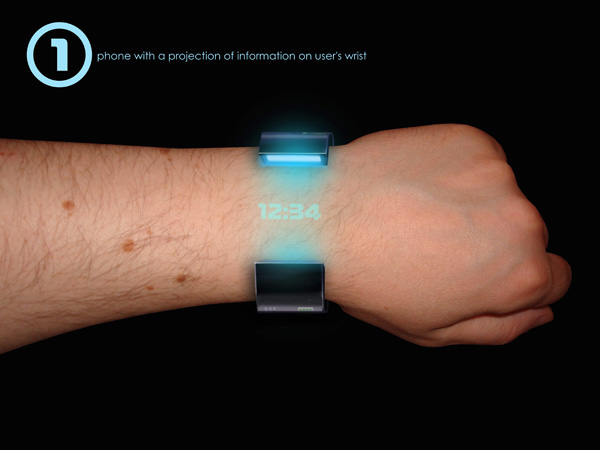 Rollerphone - Relógio holográfico