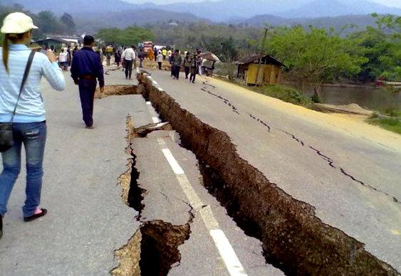 Tremor de terra na Ásia