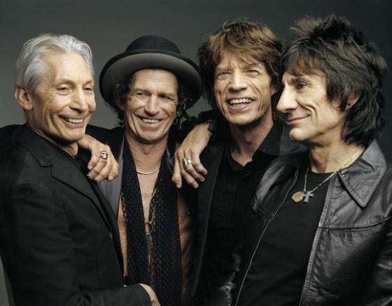 Os quatro Rolling Stones