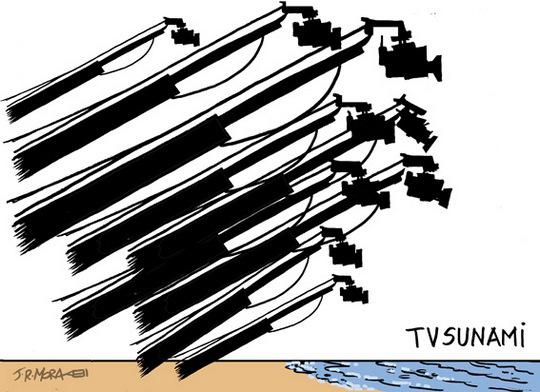 Japão - cobertura do tsunami pela mídia