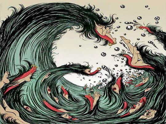 Cartum - onda gigante no Japão