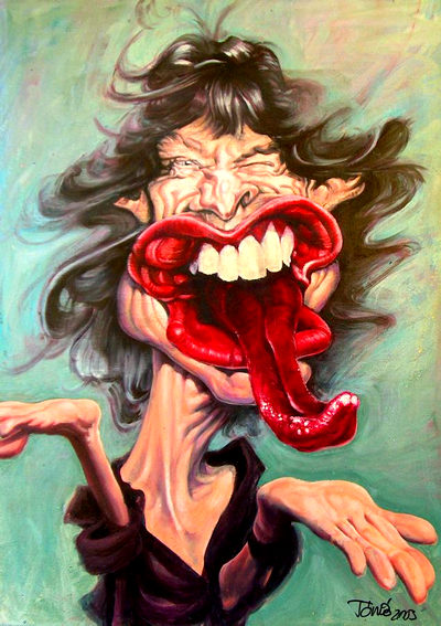 Mick Jagger - caricatura