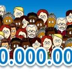 Quantas vezes o número cem bilhões é maior que dez mil?