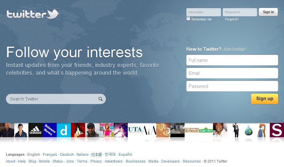 Twitter com nova Home