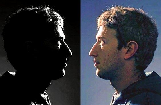 Duas caras de Zuckerberg