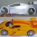 Da Oficina de Artes sai nova miniatura de carro de sucata