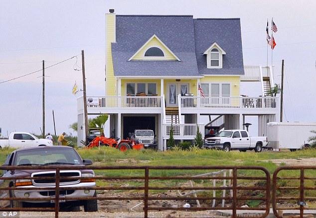 Casa de praia resistiu a furacão
