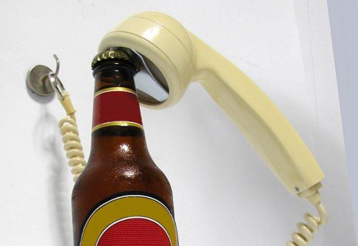 Telefone antigo reciclado