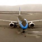 A foto assustadora do avião coberto de cinzas do vulcão Puyehue
