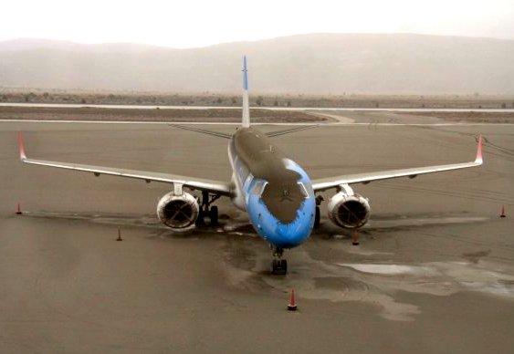 Cinzas de vulcão cobrem avião em Bariloche