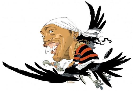 Caricatura - Ronaldinho Gaúcho no Urubu