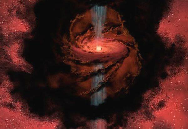 Nova estrela expele jatos de água