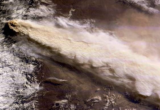 Fumaça de vulcão chileno dá a volta ao mundo