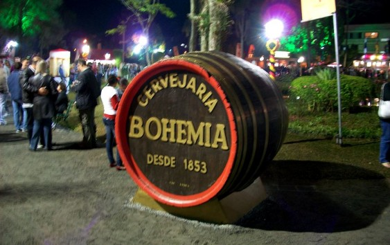 Barril de Bohemia - símbolo da Bauernfest