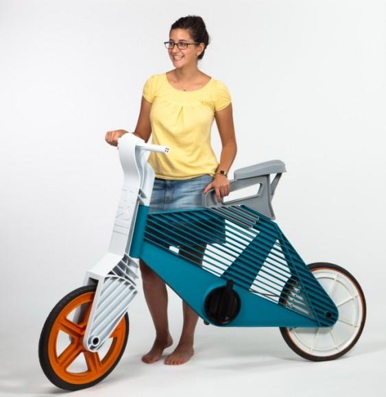 Bicicleta de plástico reciclado