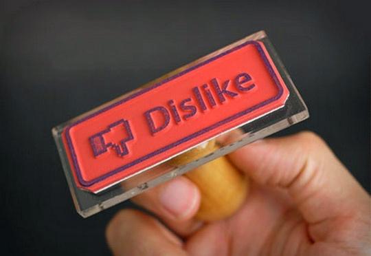 Facebook - Botão Não Curtir