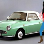 O carrinho conversível Nissan Figaro que pertenceu a Amy Winehouse