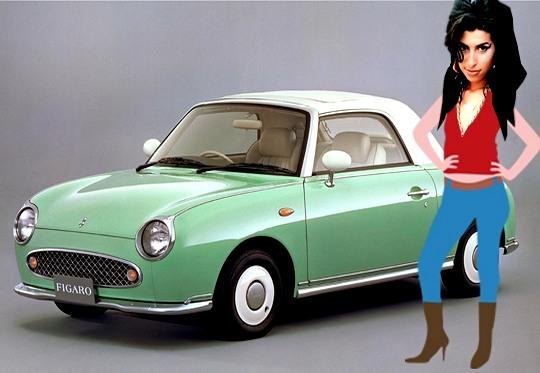 Automóvel antigo de Amy Winehouse
