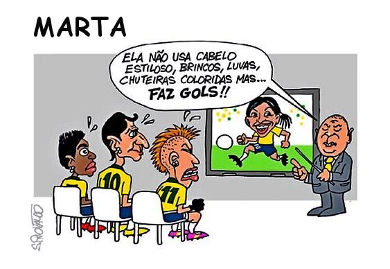 Charge sobre a Seleção Brasileira
